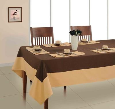 Soumya Furnishings Brown, Beige Organic Cotton Table Linen Set(Pack of 7) at flipkart