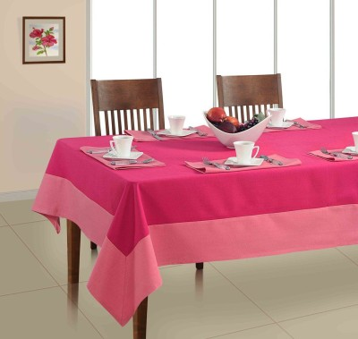 Soumya Furnishings Pink Organic Cotton Table Linen Set(Pack of 7) at flipkart