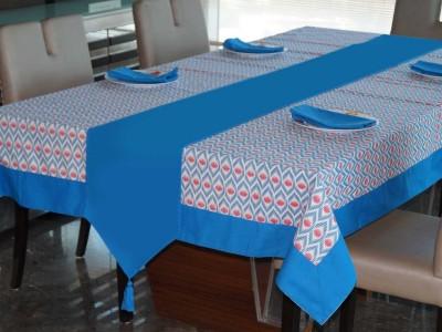 Lushomes Blue Organic Cotton Table Linen Set(Pack of 6) at flipkart