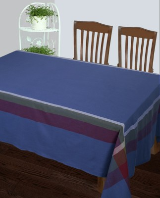 Dhrohar Solid 4 Seater Table Cover Blue, Cotton