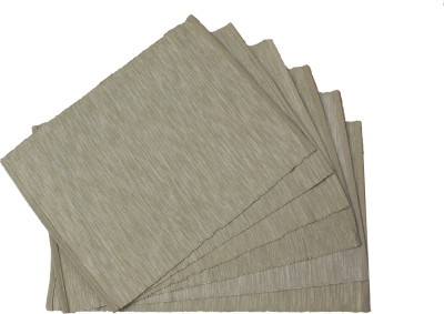 Home Colors Rectangular Pack of 6 Table Placemat(Beige, Cotton) at flipkart