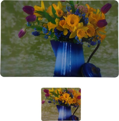 E-Retailer Rectangular Pack of 6 Table Placemat(Multicolor, PVC) at flipkart