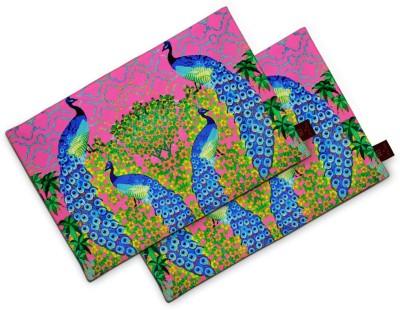 Sej By Nisha Gupta Rectangular Pack of 2 Table Placemat(Pink, Cotton) at flipkart