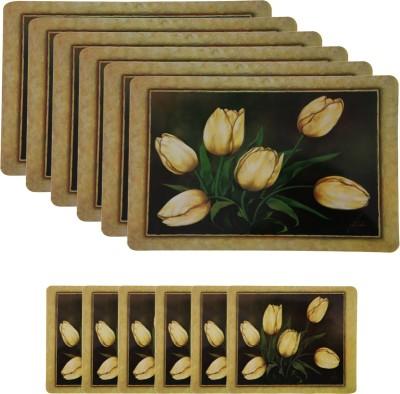 E-Retailer Rectangular Pack of 6 Table Placemat(Brown, PVC) at flipkart
