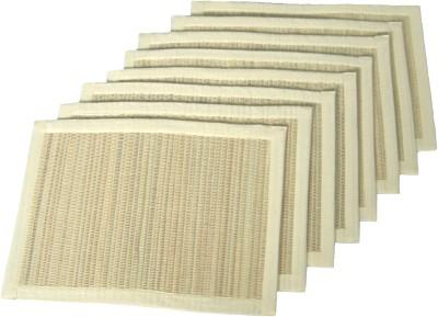 Rhapsody Decor Rectangular Pack of 8 Table Placemat(Beige, Straw, Cotton) at flipkart