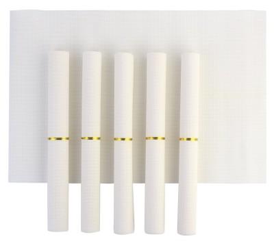 NINGXIN Rectangular Pack of 6 Table Placemat(White, Plastic) at flipkart