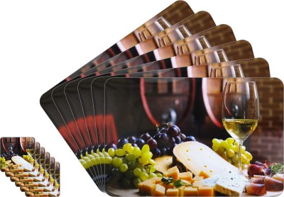 Glassiano Rectangular Pack of 6 Table Placemat(Multicolor, PVC) at flipkart