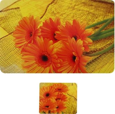 E-Retailer Rectangular Pack of 6 Table Placemat(Orange, PVC) at flipkart