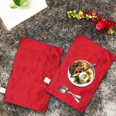Zikrak Exim Rectangular Pack of 2 Table Placemat(Maroon, Polyester) at flipkart