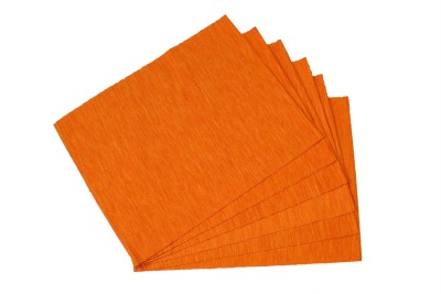 Home Colors Rectangular Pack of 6 Table Placemat(Orange, Cotton) at flipkart