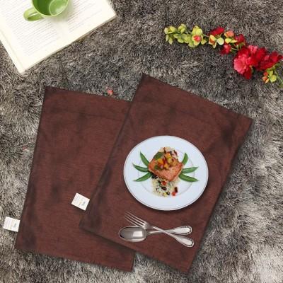 Zikrak Exim Rectangular Pack of 2 Table Placemat(Brown, Polyester) at flipkart