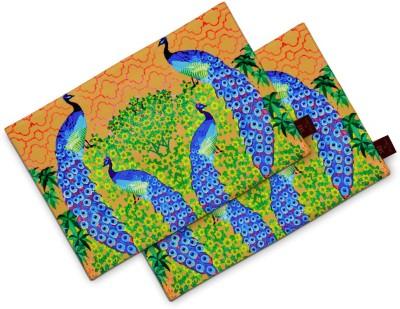 Sej By Nisha Gupta Rectangular Pack of 2 Table Placemat(Brown, Cotton) at flipkart