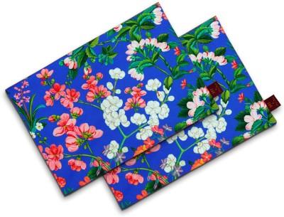Sej By Nisha Gupta Rectangular Pack of 2 Table Placemat(Blue, Cotton) at flipkart