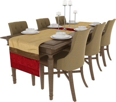 Art Horizons Red 208 cm Table Runner(Polyester) at flipkart