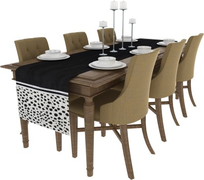 Art Horizons Black 208 cm Table Runner(Polyester) at flipkart
