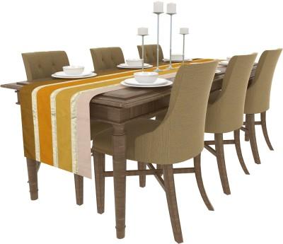 Art Horizons Yellow 208 cm Table Runner(Silk) at flipkart