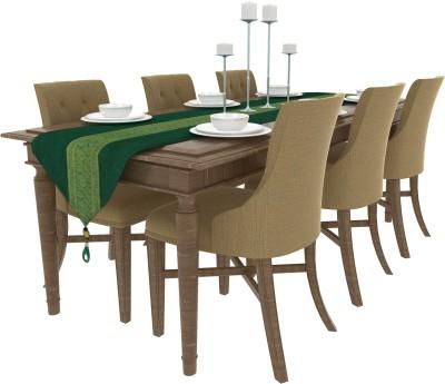 Art Horizons Green 208 cm Table Runner(Silk) at flipkart
