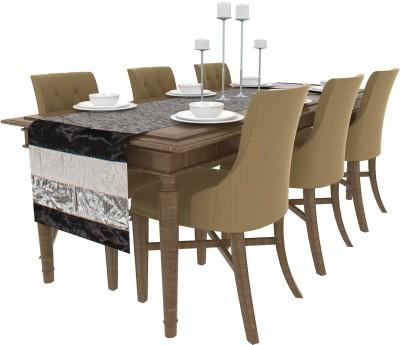 Art Horizons Black 208 cm Table Runner(Silk) at flipkart