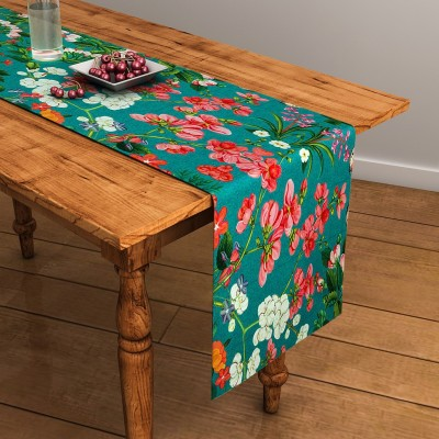 SEJ by Nisha Gupta Green 120 cm Table Runner(Cotton) at flipkart