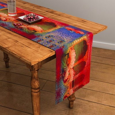 SEJ by Nisha Gupta Multicolor 120 cm Table Runner(Cotton) at flipkart