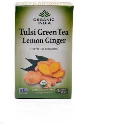 Organic India Organic India Tulsi Green Tea Lemon Ginger 18 Tea Bags Unflavoured Green Tea(100 g, Box)  available at flipkart for Rs.154