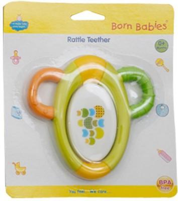 Born Babies Rattle Teether TEETHER(Green)