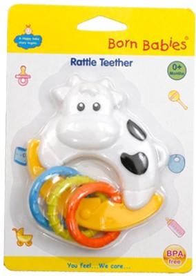 Born Babies Silicon Teether TEETHER(White)