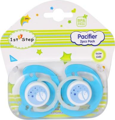 1st Step Glow in Dark Pacifier - 2 Pcs Pack Pacifier(Blue)