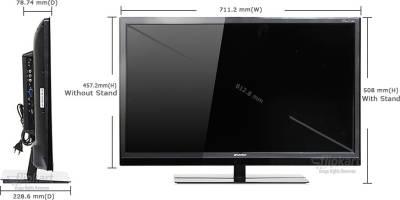 Sansui 81cm (32) HD Ready LED TV (1 X HDMI, 1 X USB)