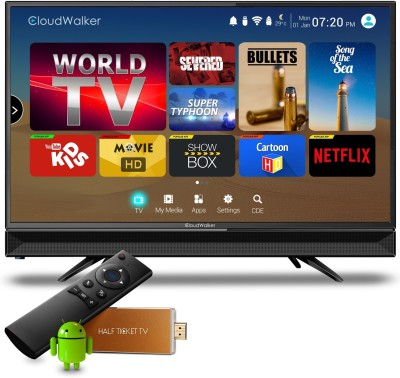 CloudWalker Cloud TV 60cm (23.6) HD Ready LED TV(24AH, 1 x HDMI, 1 x USB)   TV  (CloudWalker)