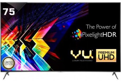 Vu 190cm (75 inch) Ultra HD (4K) LED Smart TV(H75K700) at flipkart
