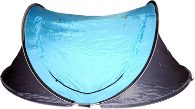 Kiehberg 2 person Automatic Pop Up private Tent Easy Fold back Tent - For 2 Person(Black, Blue)