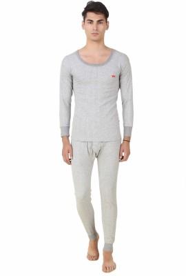 HAP Kings Light Grey Quilted Thermal Set Men's Top - Pyjama Set Thermal