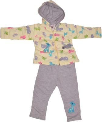 Mankoose Top - Pyjama Set For Girls(Yellow)