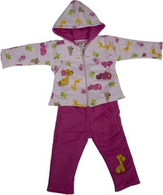 Mankoose Top - Pyjama Set For Girls(Pink)