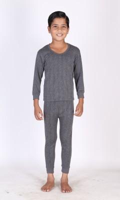 Huggers Top - Pyjama Set For Boys(Grey)