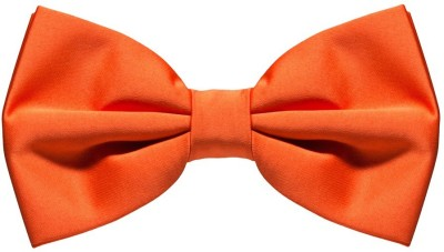 Civil Outfitters Orange Bow Solid Men Tie at flipkart