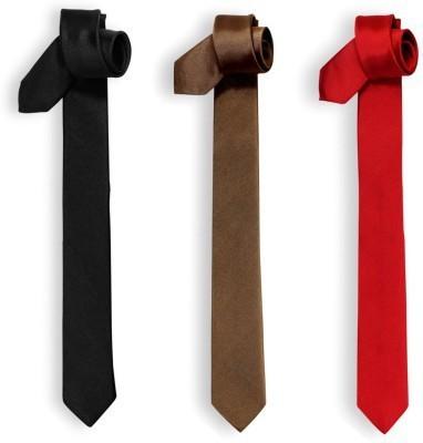 Jars Collections Solid Men's Tie(Pack of 3)