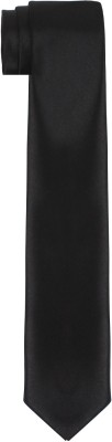 DnH Dnh Men'S Plain Necktie Black B337 Solid Men's Tie at flipkart