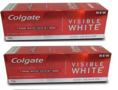 Colgate Visible White Sparkling Mint Toothpaste (200GM)