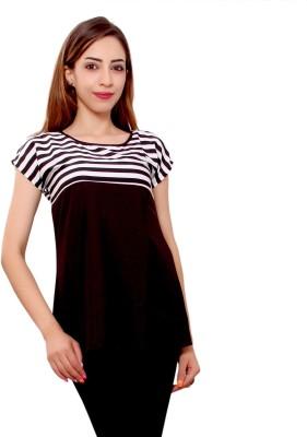 GMI Casual Short Sleeve Striped Women Multicolor Top GMI Women's Tops