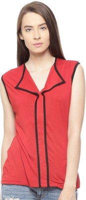 Vvoguish Casual Sleeveless Solid Women