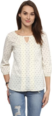 Harpa Casual 3/4th Sleeve Polka Print Women