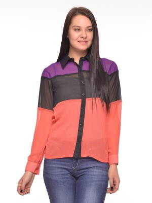 Vvoguish Casual Full Sleeve Solid Women Multicolor Top