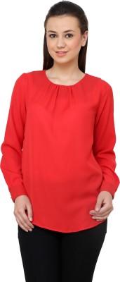 VAAK Casual Full Sleeve Solid Women Red Top VAAK Women's Tops