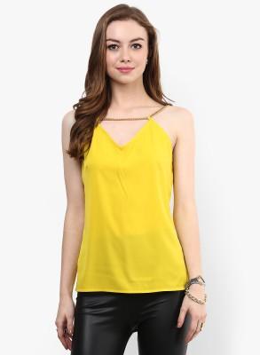 Veni Vidi Vici Casual Sleeveless Solid Women Yellow Top Veni Vidi Vici Women's Tops