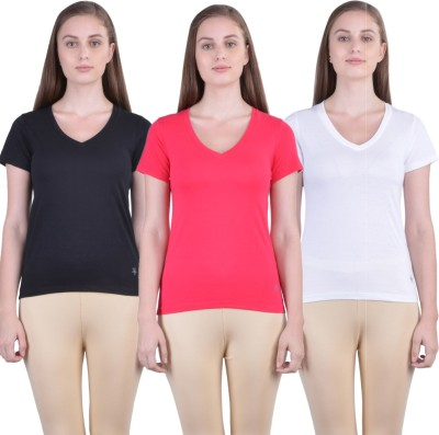 IndiWeaves Casual No Sleeve Solid Women Pink, Blue Top
