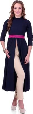 Sassafras Casual Full Sleeve Solid Women Dark Blue Top at flipkart