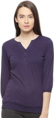 Vvoguish Casual 3/4th Sleeve Solid Women