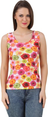 Texco Casual Sleeveless Floral Print Women